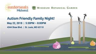 Autism Friendly Family Night at Missouri Botanical