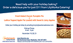 LilyWorks Holiday Pies!