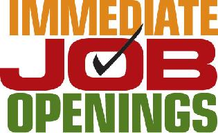 Immediate job openings graphic