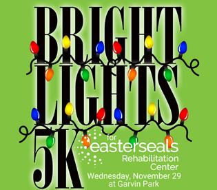 Bright Lights 5K for Easterseals Rehabilitation Center logo