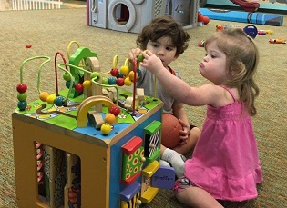 Two children at the Special Needs Playgroup