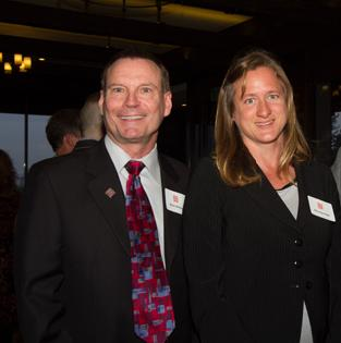 CEO Mark Whitley and Miranda Hope