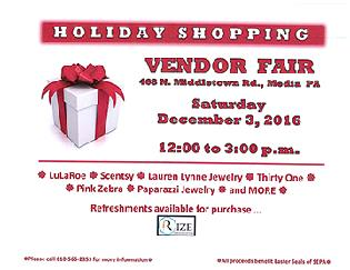 Vendor Fair flyer
