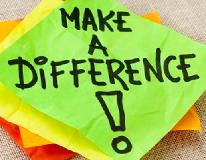 Make A Difference post-it note