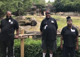 Easterseals participants start work at the zoo