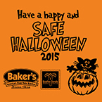 Buy Safe Halloween Coupon Books at Baker's Drive-Thru