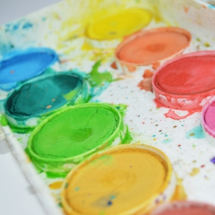 watercolor tray