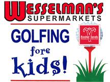 Wesselman's supermarkets Golfing fore kids logo