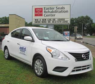 2016 Nissan Versa at the Easter Seals Rehabilitation Center