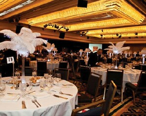 Dining room tables at Spring Gala