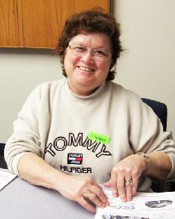 Office volunteer Pam Will
