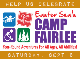 For 60 years, Easter Seals Camp Fairlee has impacted the lives of many children and adults with disabilities and their families with respite, fun and adventure! Help us celebrate on Saturday, September 6.