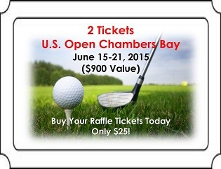 Last Chance to Buy Raffle Tickets for the 2015 U.S. Open at Chambers Bay