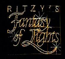 Ritzy's Fantasy of Lights lighted logo
