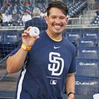 CVS celebrates Bob Hope Veterans Support Program Client Robert Napier and presents check at Padres game