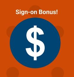 Sign on Bonus in Greenville, SC