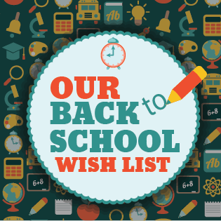 back to school supply wish list for Easter Seals North Texas