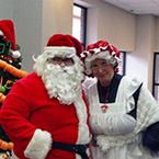 ESCF Receives Visit from Santa & Mrs. Claus!