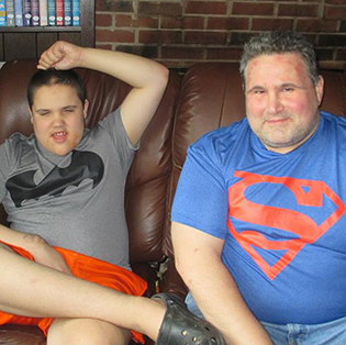 Keith Hammond and his son