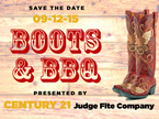 Save The Date: September 12, 2015 is Boots & BBQ