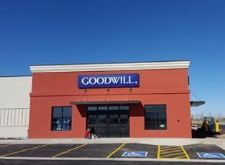 Front view of Belgrade Goodwill store