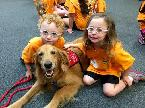 Therapy dogs with young special needs children