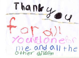 child thank you note
