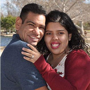 Adult Day Service Engaged Couple Gerardo and Valeria