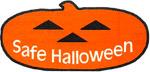Safe Halloween pumpkin logo