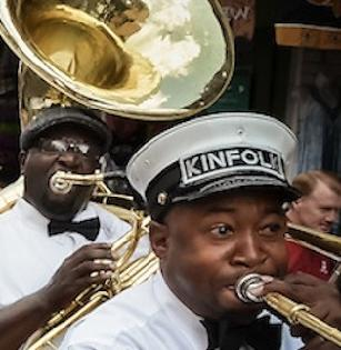 Jazz Musicians in a Second Line
