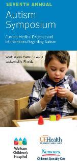 Autism symposium brochure cover