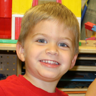 Smiling preschool boy