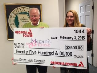 Georgia Power give to Megan's House