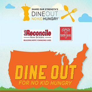 Join Cafe Reconcile, Easter Seals Louisiana & Share Our Strength in feeding hungry kids!