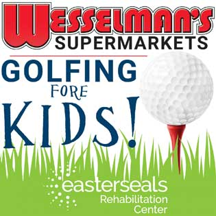 Wesselman's Golfing Fore Kids logo