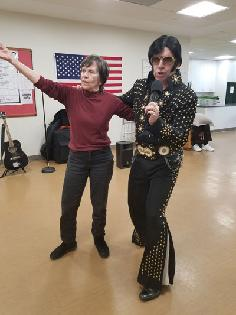 Elvis Visits Easterseals Adult Day Services in Silver Spring