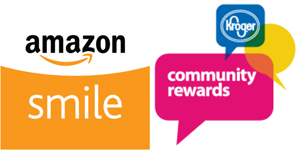 Kroger Community Rewards and Amazon Smile Logos