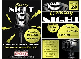 comedy night flier