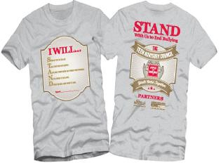 Stand with us against bullying t-shirt design