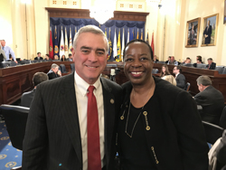 CEO Angela Williams and Representative Brad Wenstrup