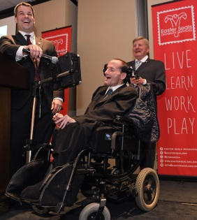 Team Hoyt and Paul Medeiros at Evening of Empowerment