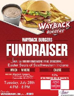 Wayback fundraising flier for the Easter Seals Rehab Center