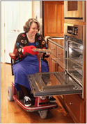 Cooking in an accessible kitchen