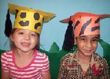 Preschoolers in graduation caps
