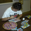 Debbie doing an arts and craft project