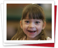 Smiling friend of Easterseals