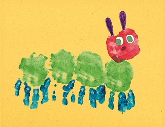 2015 children's art cover, the caterpillar