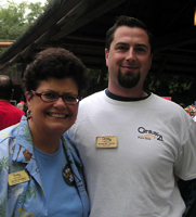 Regional Manager, Sandy Persky with Robert Ross